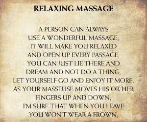 Quotes About Relaxation and Massage