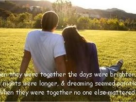 together quotes or sayings photo: No one else mattered together.jpg