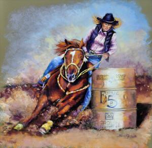 The Art of Susan Jenkins: Barrel Rider