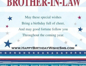 ... for brother in law – Happy Birthday Brother Message, Quotes Images