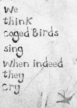 We think caged birds sing when indeed they cry(via The Curious Brain ...