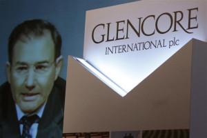Glencore Ceo Ivan Glasenberg Broadcast Screen During Tele