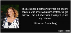 birthday party for him and my children, who are all Aquarians ...