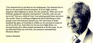 Best Nelson Mandela Famous Quotes - Our deepest fear quote...