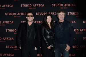 Bono Vox Ali Hewson E Renzo Rosso Al Party Di Lancio Della Collezione ...