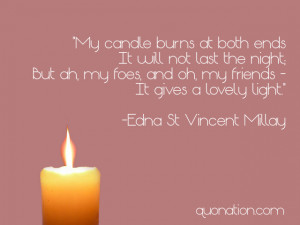 Edna St. Vincent Millay Quote
