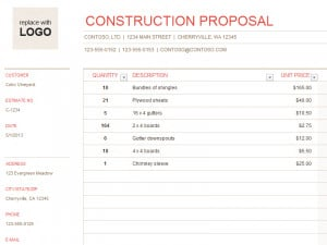 Here is download link for this Building/Construction Quote Template,