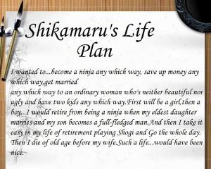 Nara Shikamaru saying: