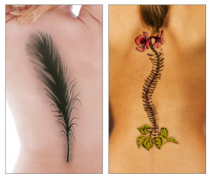 Awesome Spine Tattoo Design Ideas for Women