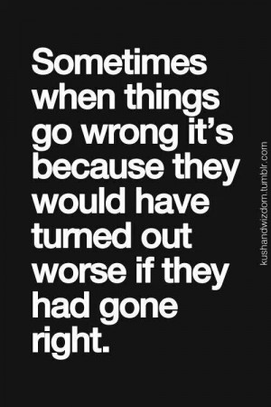 When things go wrong.