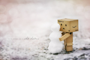box, cute, snow, snowman