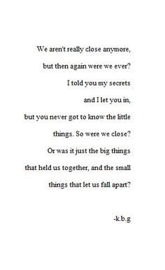our relationship is falling apart poems