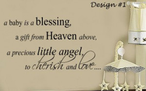 Baby is a Blessing from Heaven Nursery Vinyl Wall lettering Sayings ...