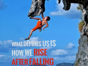 What defines us is how we rise after falling – Quote from Batman ...