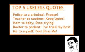 Useless quote #1