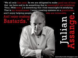 Julian Assange, Wikileaks, julian assange quotes, julian assange enjoy ...