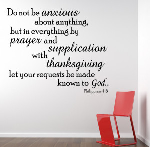 Philippians 4:6 Do Not...Religious Wall Decal Quotes