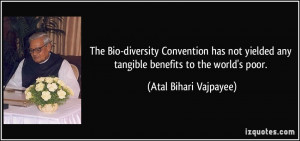 The Bio-diversity Convention has not yielded any tangible benefits to ...