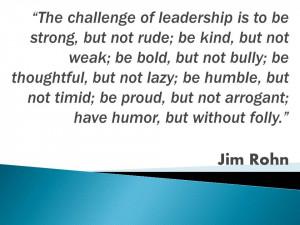 Jim Rohn quote on leadership