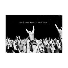 text party music quotes rock hipster inspiration b&w hands Concert ...