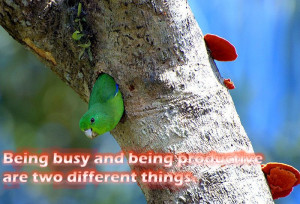 Best Inspirational Quotes on Being Busy And Being Productive Are Two ...