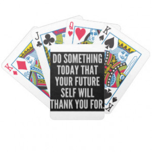 Motivational Quotes Playing Cards
