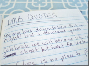 ... quote book, I also found this loose piece of paper with a fun quote on