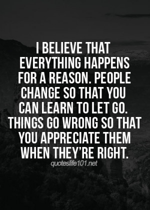 SATURDAY SAYINGS: LIFE, NEW BEGINNINGS AND THINGS HAPPEN FOR A REASON