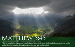 Bible Verse Matthew 5:45 Sunshine in The Mountains And Valley HD ...
