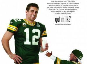 Aaron Rodgers 'got milk' poster excerpt