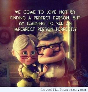 ... about finding the right person i m not a perfect person true love does