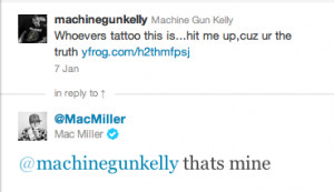 Mac Miller claimed this MGK Lace Up tattoo was his, though we're not ...