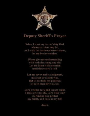 Deputy Sheriff, Sheriff Prayer, Deputy Wife, Lawenforcement Prayer
