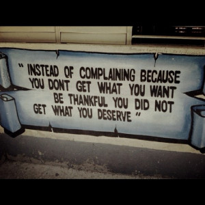 instead of complaining...must remember this