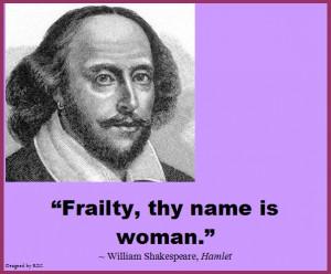 Best Women English Quotes: Quote of William Shakespeare, Hamlet ...