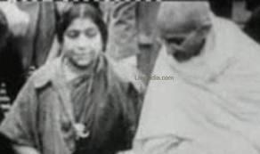 Gandhiji with Sarojini Naidu