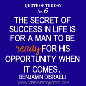 Quote Of The Day December 26, 2012: Secret of success in life