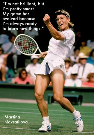 How Tennis Legend Martina Navratilova Went from Good to Great