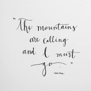 Quote by John Muir by LovelyDayFleur on Etsy, $25.00