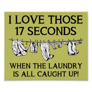 Laundry Day House Cleaning Funny Poster Sign