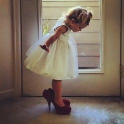 cute, high heels, little girl, mommy, mum, princess