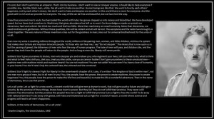 Charlie Chaplin's Speech 1940. The Great Dictator by MobiusBlue-Zero