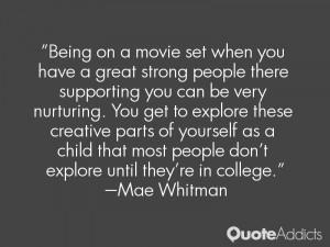 Mae Whitman Quotes