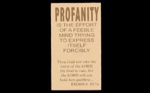 The Profanity Card