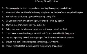 Corny Pick Up Lines by E-xavier