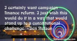 Top Quotes About Campaign Finance Reform