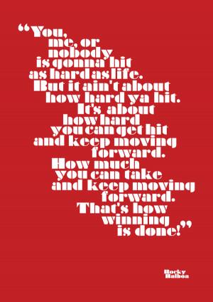 Rocky Balboa : Typographic Poster on Behance