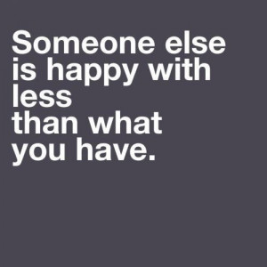 lot less. Great reminder!