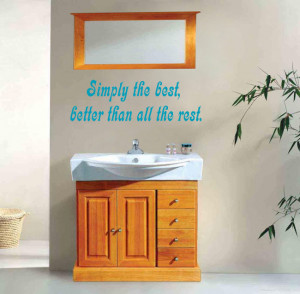Sky blue Simply The Best (Tina Turner) Lyric wall decal above a ...