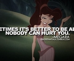 Disney Quotes / Megara from Hercules quote